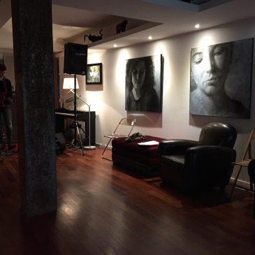 Appart'Concert avec Mell et quelques-unes de mes toiles